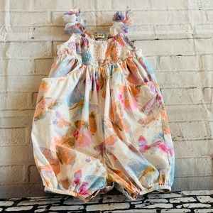I Heart Next Baby Girls Floral Butterfly Romper